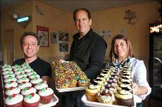 Carousel Cakes owners Howy Lefkowitz, David & Nancy Finkelstein