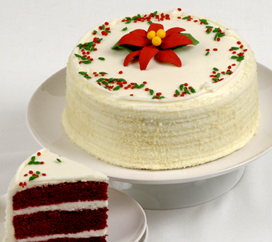 "Oprah's ""O"" List holiday Red Velvet Cake from Carousel Cakes"