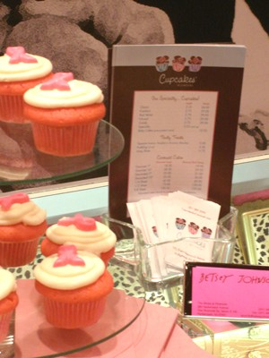 Cupcake Display at Betsy Johnson's retail store